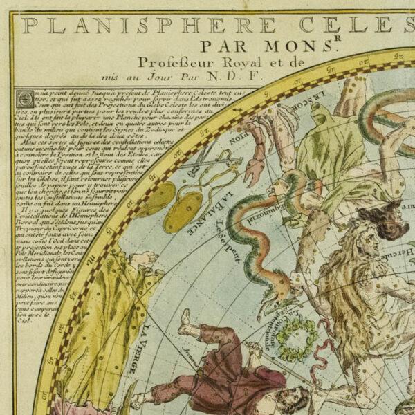 Planisphere Celeste Septentrional Par Mons'r. De La Hire, detail