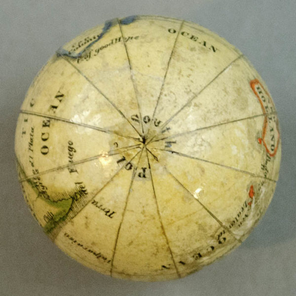 Bauer (attributed to) The Earth and Its Inhabitants, globe detail