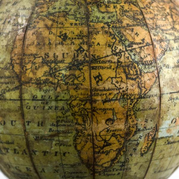 Joseph Schedler 3-Inch Terrestrial Paperweight Globe, detail