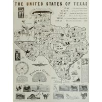 The United States of Texas, satirical novelty map