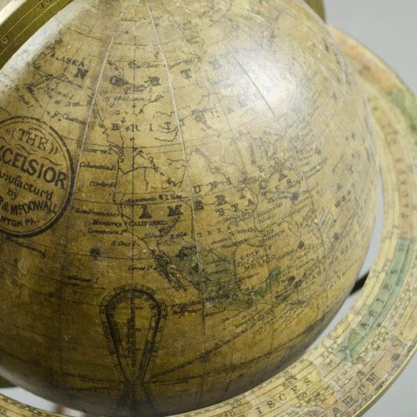 """Excelsior"" 7-inch Terrestrial Table Globe, detail"