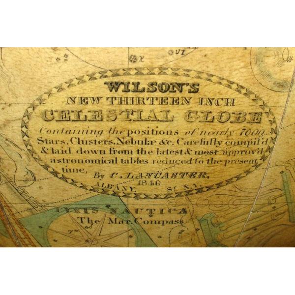 James Wilson 13-inch Celestial Table Globe, detail