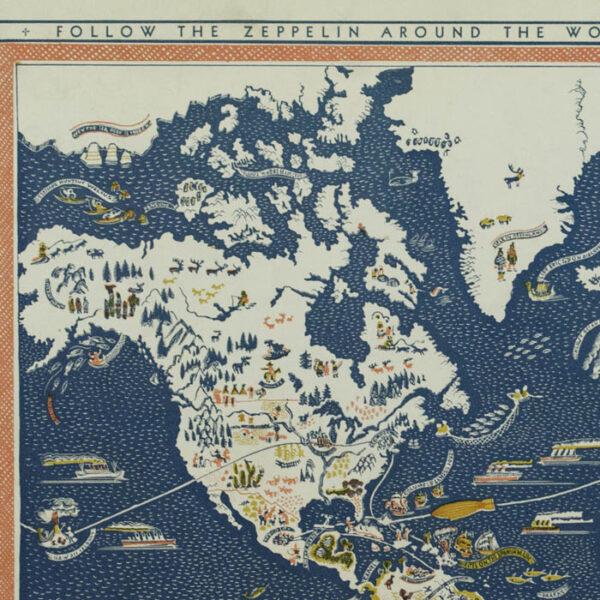 Edgar Miller, Hiker and Buzzer's Trip 'Round the World, detail