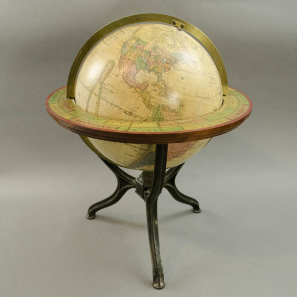Gilman Joslin/ New England School Furnishing Company 10-Inch Terrestrial Table Globe