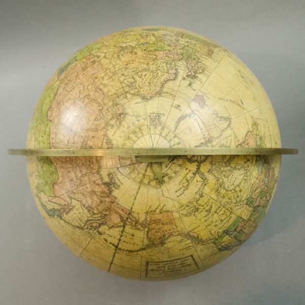 Gilman Joslin/ New England School Furnishing Company 10-Inch Terrestrial Table Globe, detail