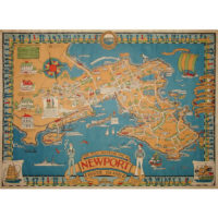 This is a Souvenir Map of Newport Rhode Island