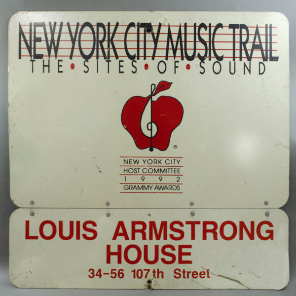 New York City Music Trail Sign, Louis Armstrong House