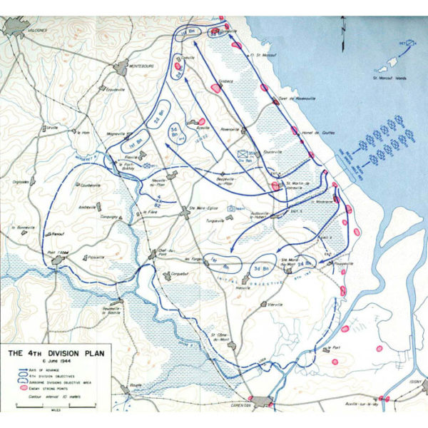 Utah Beach 4th Infantry Division Plan