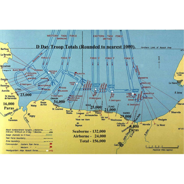 Utah Beach D-Day Ship Positions