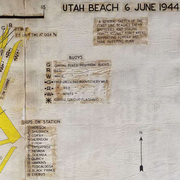 Utah Beach 6 June 1944 Landing Map, detail