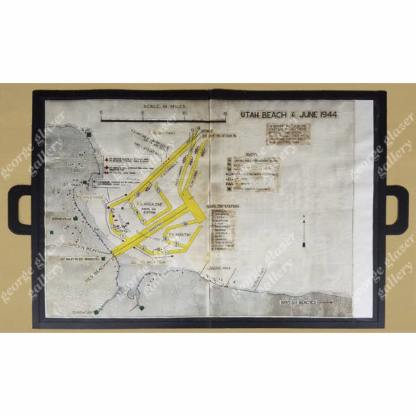 Utah Beach 6 June 1944 Landing Map, in portfolio