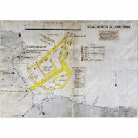 Utah Beach 6 June 1944 Landing Map