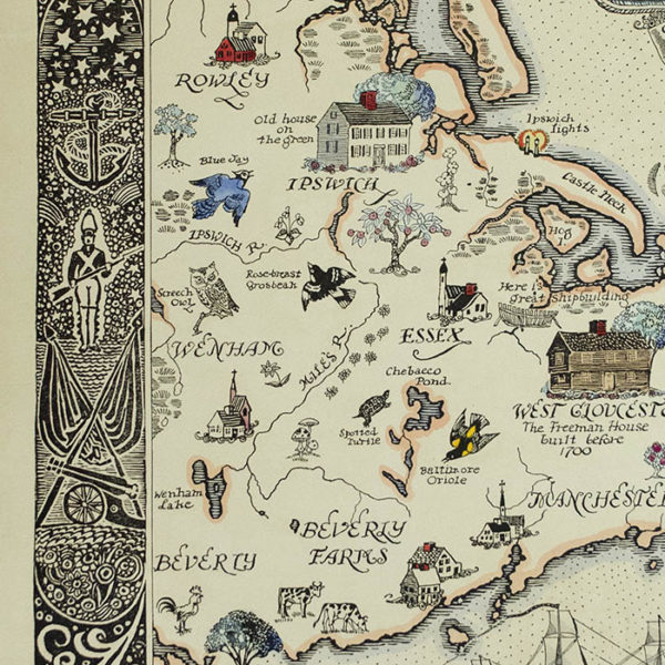 Cape Ann and the North Shore, detail