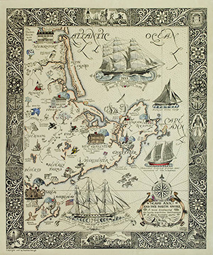 Cape Ann Pictorial Map
