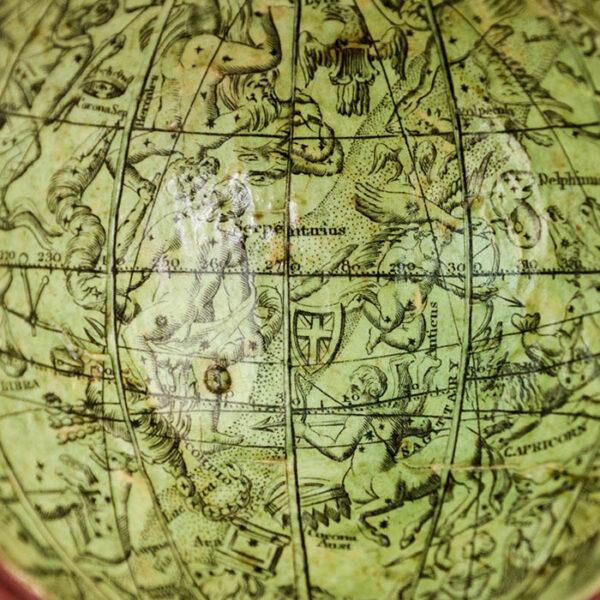 2.75-Inch Terrestrial Pocket Globe, Celestial Case, detail