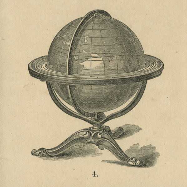 Gilman Joslin 12-Inch Terrestrial Table Globe, catalog detail