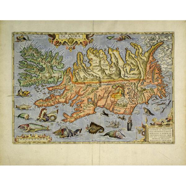 Ortelius Map of Islandia [Iceland]