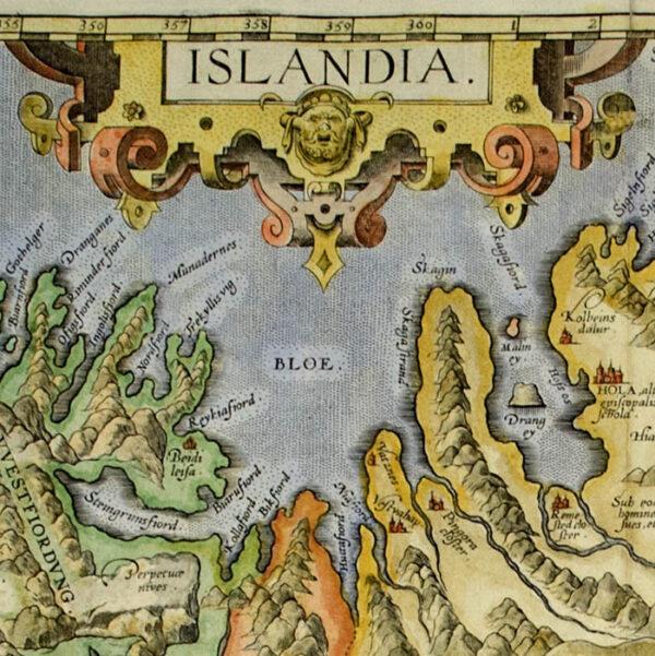 Ortelius Map of Islandia [Iceland], detail
