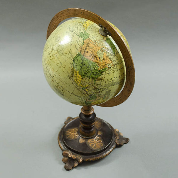 Herman Schedler 6-Inch Terrestrial Globe on Anthemion Base