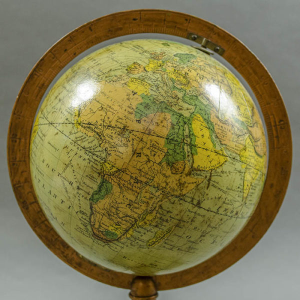 Herman Schedler 6-Inch Terrestrial Globe on Anthemion Base, detail