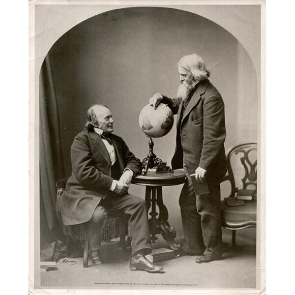 Louis Agassiz and Benjamin Peirce with Terrestrial Globe
