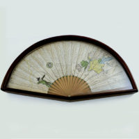 Fan Decorated with Archer, Map and Riddles