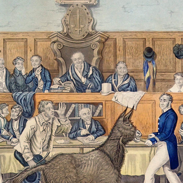 Martin Act Animal Rights Trial Scene, detail