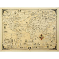 Ernest Chase, World Wonders, A Pictorial Map