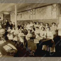 School Classroom with Teachers, Students and Globe