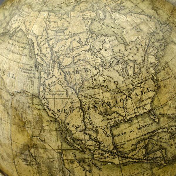 Delamarche 10-Inch Terrestrial Table Globe, detail