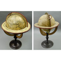 Delamarche 10-Inch Terrestrial Table Globe and Vaugondy 10-Inch Celestial Table Globe