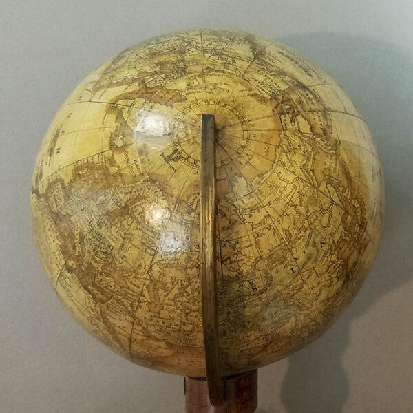 Joslin 6-Inch Terrestrial Globe on Walnut Pedestal Stand, 1846, detail