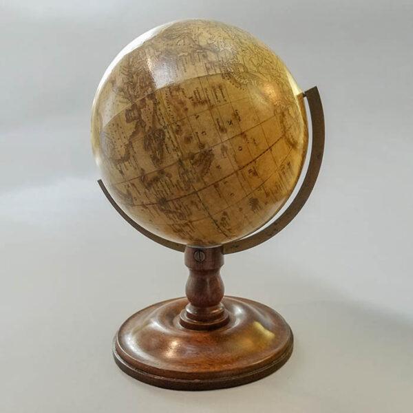 Joslin 6-Inch Terrestrial Globe on Walnut Pedestal Stand, 1846
