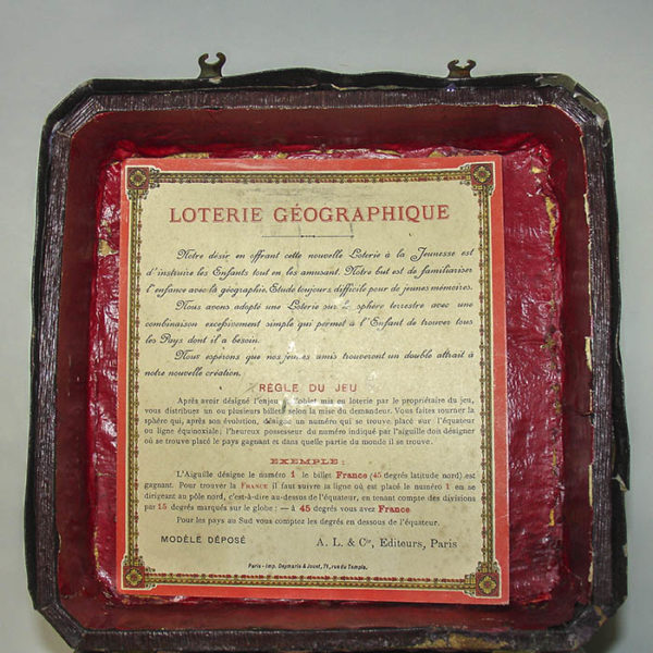 Loterie Géographique, Geography Game, detail