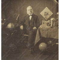 [John McAllister, Jr., Optician, with Globe and Scientific Instruments]