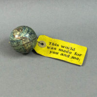 E.J. Schwabe Novelty Company 2-Inch Mailable Souvenir Terrestrial Globe