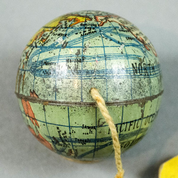 E.J. Schwabe Novelty Company 2-Inch Mailable Souvenir Terrestrial Globe, detail