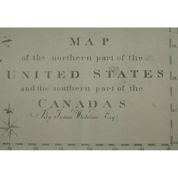 Map of the Northern Part of the United States and the Southern Part of the Canadas, detail
