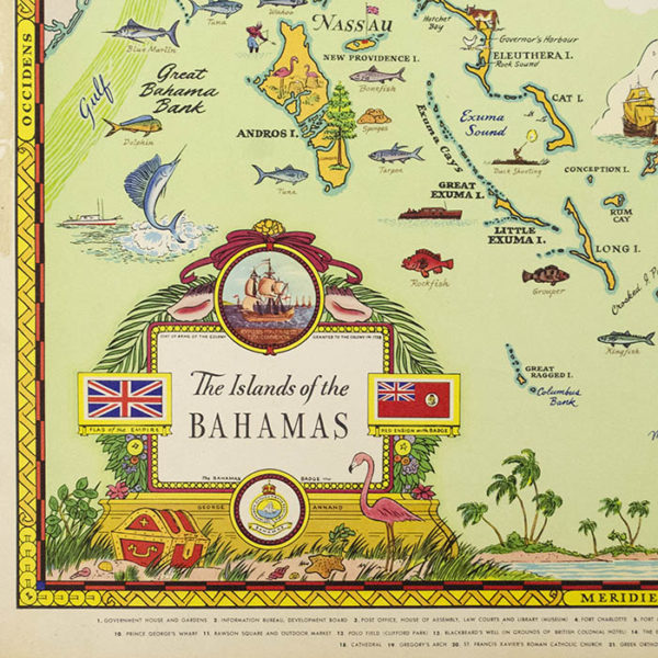 George Annand, The Islands of the Bahamas, detail