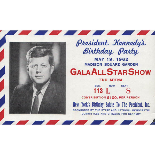New York's Birthday Salute to President Kennedy, Ticket