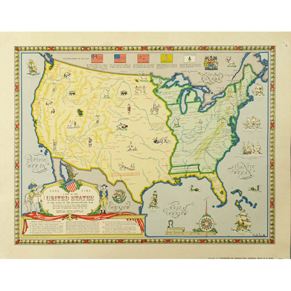 Karl Smith, A Map of the United States at the Close of the Revolutionary War