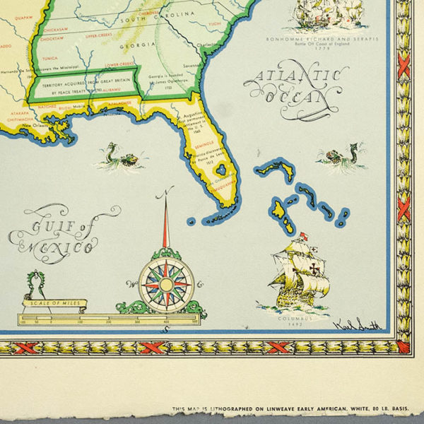 Karl Smith, A Map of the United States at the Close of the Revolutionary War, detail