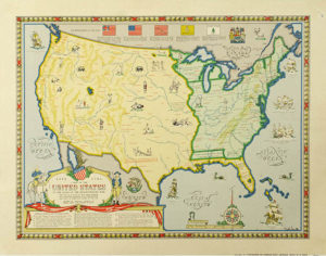 Map of the United States at the Close of the Revolutionary War