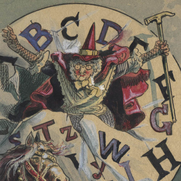 Richard André, Through the Alphabet, Illustration for Mother Goose ABC, detail