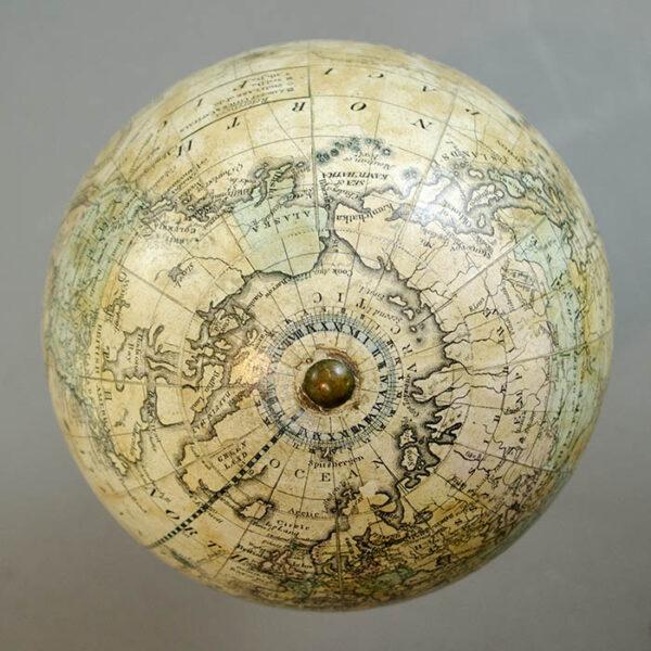H.B. Nims & Co. 6-Inch Terrestrial Globe, detail