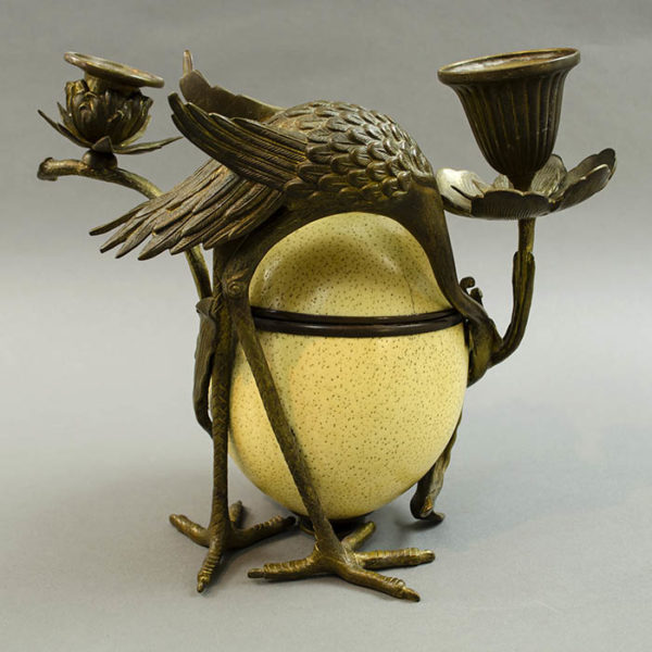 Mounted Ostrich Egg