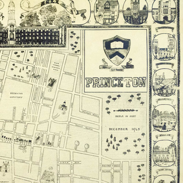 Princeton, pictorial map detail
