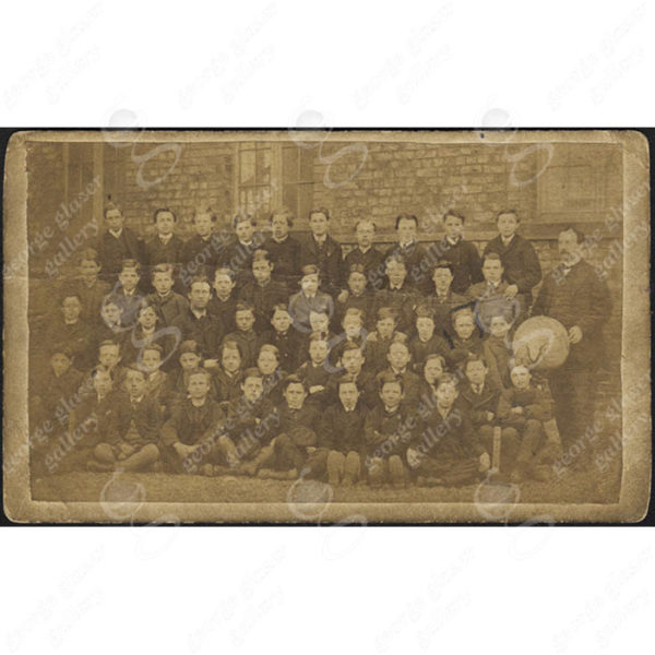 South Shields School photograph with globe