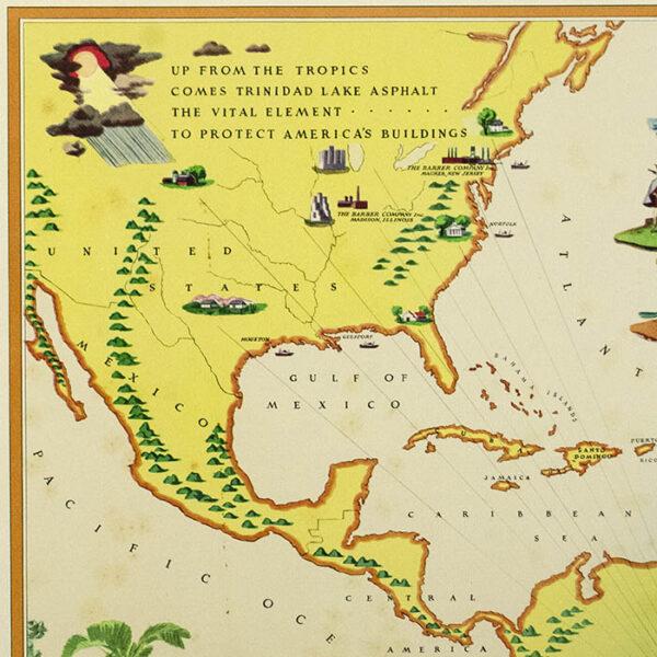 Vintage Trinidad Map Pendant or Key Ring \u2022 Old Trinidad Map \u2022 Trinidad Heart Map \u2022 Necklace \u2022 Gift Under 20 \u2022 Made in Australia
