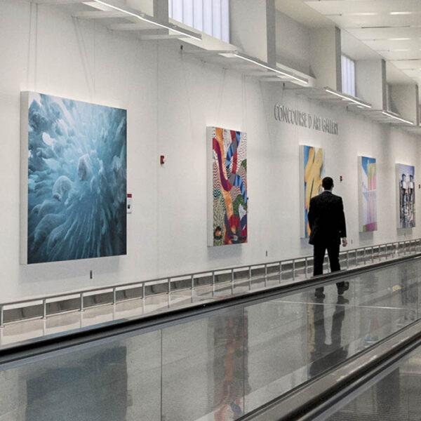 BWI Airport Concourse D Art Exhibition